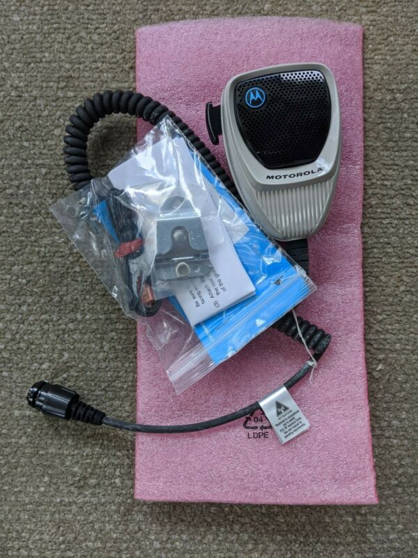 New Motorola HMN1090A Microphone XTL APX Mobile Radio With Hangup Clip