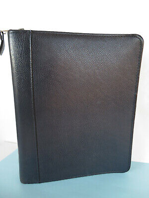 Classic 1.5 Blue Top-grain Leather Franklin Covey Quest Planner Binder Usa