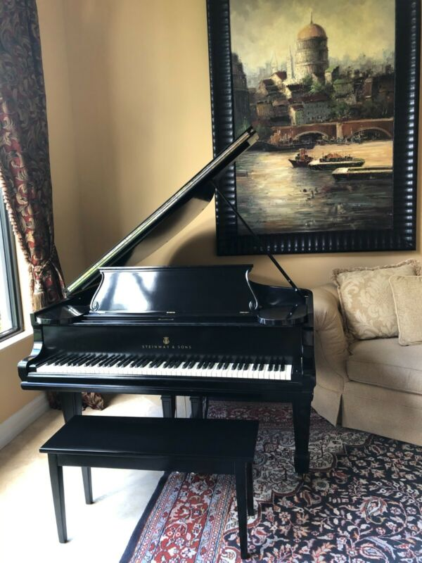 """Steinway Baby Grand Piano Ebony Model """"0"""", 1906 - Quality Collectible Antique"""