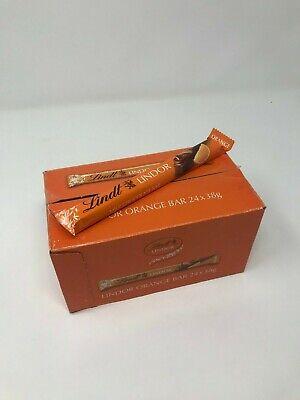 Lindt Lindor Milk Chocolate Bar Orange Flavour 38g X 24 Bars -SAME DAY (Milk Chocolate Orange Bar)