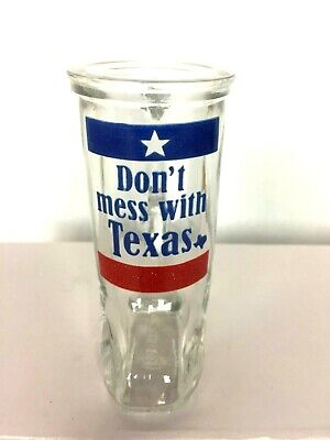 Shot Glass Don't Mess With Texas Shaped like a Boot with Handle](Boot Shaped Shot Glass)