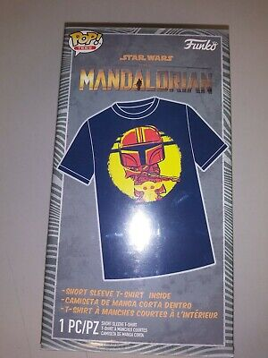 Funko POP Tees, The Mandalorian Walmart Exclusive Tee Size Med, HARD TO FIND!