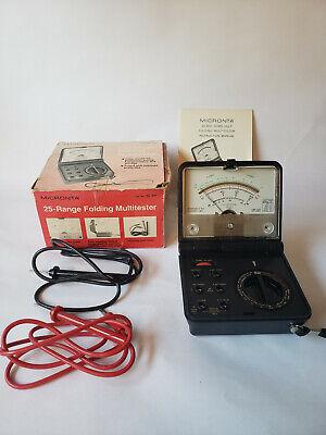 Vintage Micronta 22-211 Multitester 25-range Folding Multi Meter - W Box