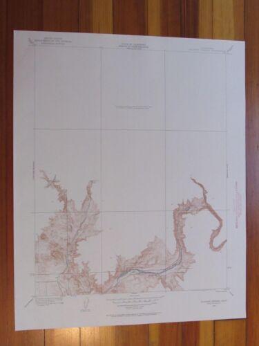 Millerton Lake West California 1960 Original Vintage USGS Topo Map