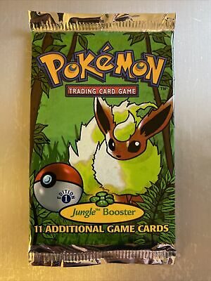 Pokemon 1st Edition Jungle Sealed Booster Pack!