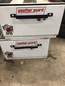 2 WEATHER GAURD Pack Rat  rollout storage box