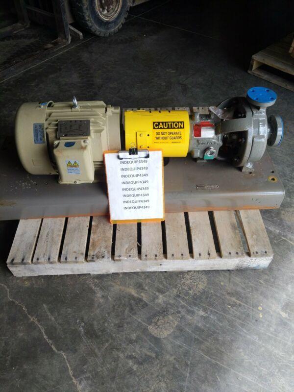 Flowserve Pump MK3 STD ~ 1K1.5x1 - 82RVK ~ 10 HP GE Severe Duty Motor ~ 3 HP