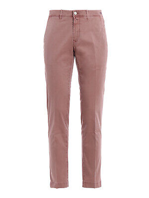 JACOB COHEN Bobby Comf Pink Soft Stretch Slim Chino Chinos Trousers RRP: £375.00