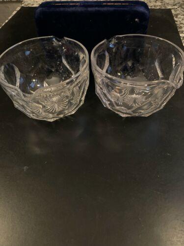 19th Century Georgian Era Flint Glass Cut Star Rayed Base WINE RINSER