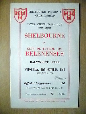 Inter Cities Fairs Cup 1964- SHELBOURNE v BELENENSES,14th Oct
