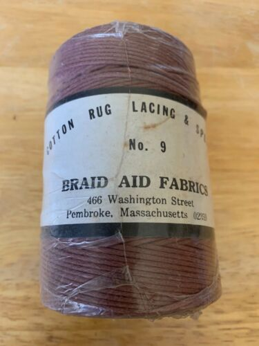 Braid-Aid Cotton Rug Lacing and Splicing # 9, 1/2 lb, 286 yards, Burgundy/Brown