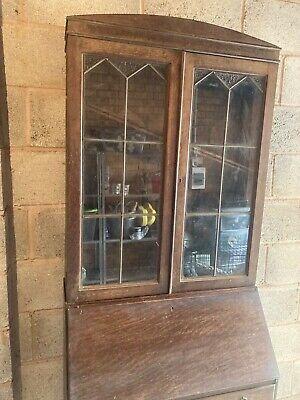 Antique Edwardian Mahogany Bureau / Bookcase good condition