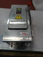 Square D Stainless Steel Heavy Duty Safety Switch 30A 600V 30HP 3PH