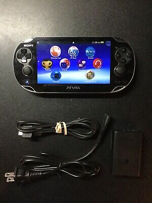 Sony PS Vita - PCH-1001 Black Handheld System With Charger