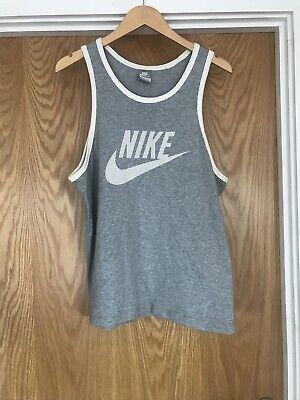 Nike Sleeveless Grey White Vest Vintage Style Size Large