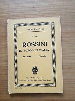 Noten. Rossini. Il turco in Italia. Ouvertüre. Taschenpartitur.