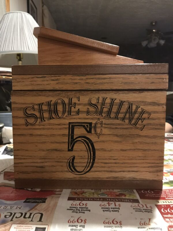 Vintage Wood Shoe Shine Box