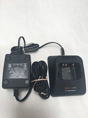 Motorola Radio Battery Charger W Power Supply Ntn1171a