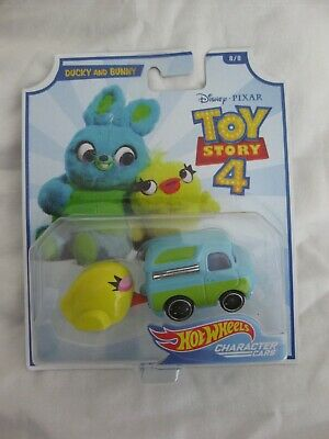 Hot Wheels Disney Pixar Toy Story 4 Ducky And Bunny Mint In Card