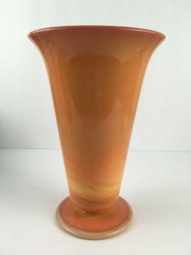 Tiffin Orange Slag Glass Vase 1920