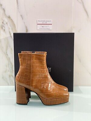 Jeannot Boots Woman Pecoc Mustan Leather with Heel Made in Italy 36