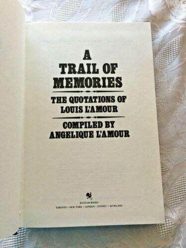 Louis Lamour Leatherette HC A Trail of Memories: Quotations 1988