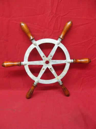 Vintage Nautical Marine Ship Boat Steering Wheel Wood Handles