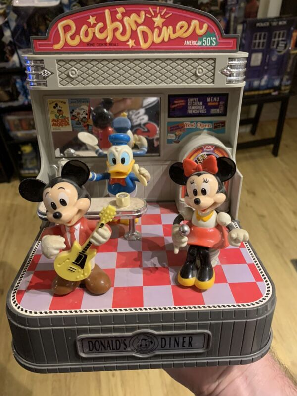 Takara Japan Disney Donalds Diner Animated Show Rock&Roll Read Description
