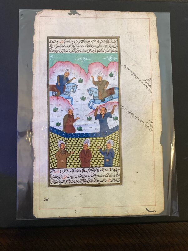 Safavid Antique Persian miniature painting from Shahnameh Manuscript 16-17th cen