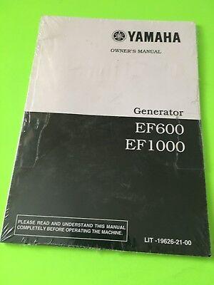 Yamaha Ef600 Ef1100 Portable Engine Generator Owners Users Manual New
