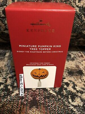 Hallmark 2020 Pumpkin King MINIATURE Tree Topper Nightmare Before Christmas MIB