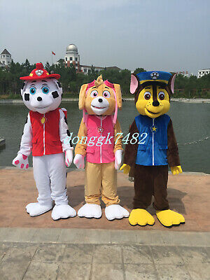 CHASE MARSHALL SKYE PAW PATROL MASCOT COSTUME PARTY FANCY DRESS ADULT SIZE](Mascot Costumes)