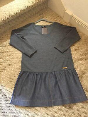 NWT - Louis Vuitton Wool & Silk Sweater Dress w/ Denim Skirt  -  XL - US 14