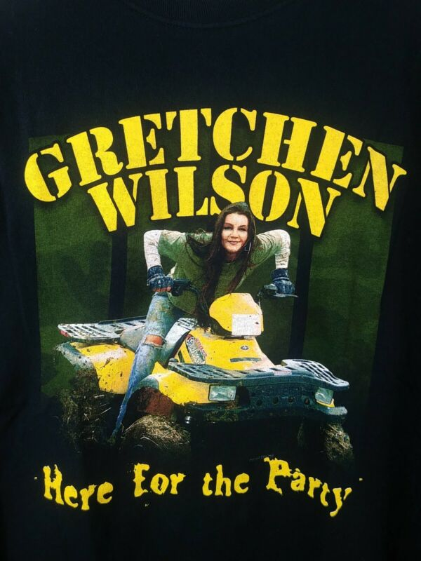 Gretchen Wilson Here For The Party Tour Shirt Size 2XL 4 Wheeler Shirt Country