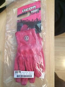 PINK ICON PURSUIT MOTORCYCLE GLOVES