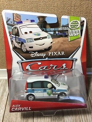 Disney Pixar Cars WGP Alex Carvill Security BRAND NEW World Grand Prix