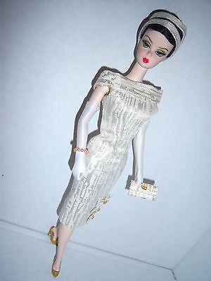 Vintage Barbie & Silkstone OOAK reproduction Gold Brocade Dress handmade