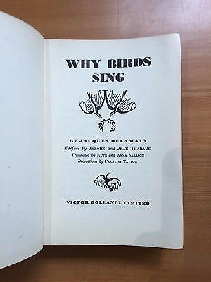 "1933 ""WHY BIRDS SING"" JACQUES DELAMAIN BIRDS HARDBACK BOOK"
