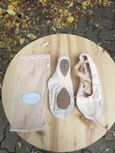 Light pink cloth ballet shoes