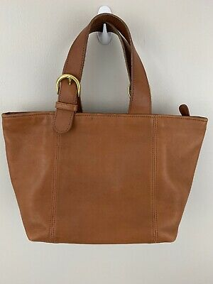 Coach Purse Handbag Camel Tan Brown Leather Tote Satchel Soho Waverly F8P-4133