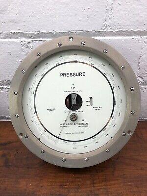 Wallace Tiernan Absolute Pressure Gauge Fa145 35 Psi Vintage Steam Punk Metal
