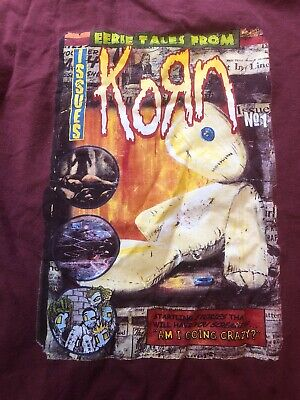 Vintage Mens XL 90s KORN Issues T-Shirt eerie tales from