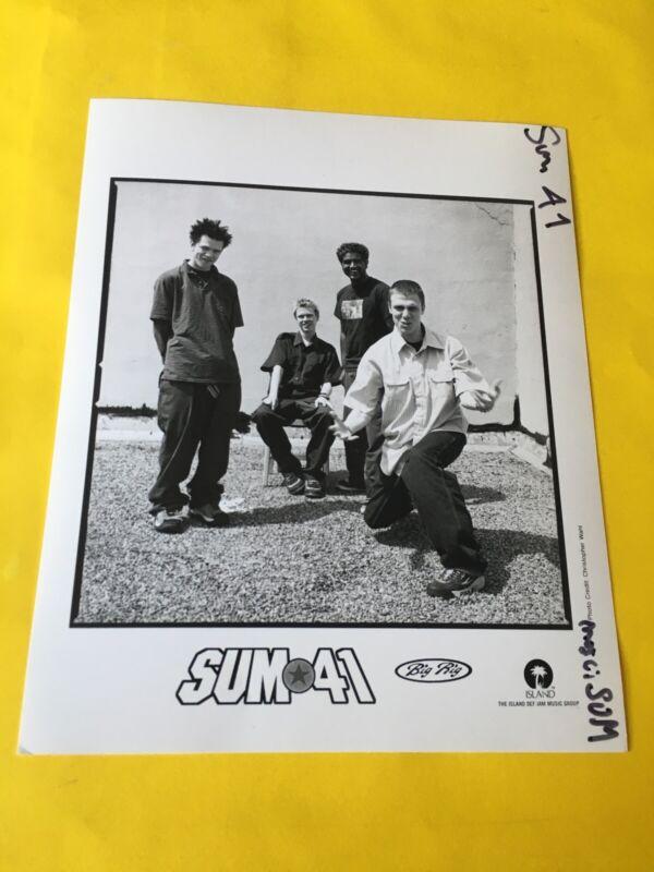 "Sum 41 Press Photo 8x10"", Deryck, Whibley, Dave Baksh, Jason McCaslin, Island."