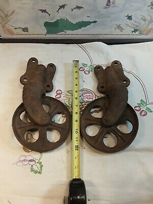 Vintage Factory Cart Cast Iron Caster Wheels Railroad Cart Antique