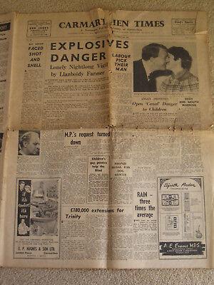 Old Welsh Newspaper 3rd November 1967 The Carmarthen Times Vintage Newspaper 60s