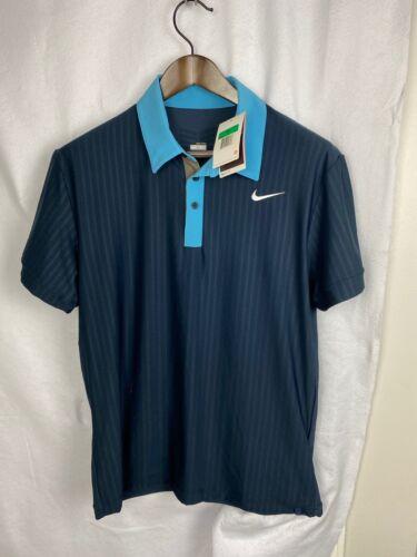 NWT Roger Federer Nike 2009 Madrid Polo Shirt mens size Large RF tennis RAFA