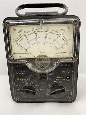 Vtg Simpson Model 5 Volt Ohm Test Meter Multimeter - No Cables Untested