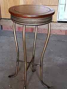 3x timber and bronze stools Macquarie Links Campbelltown Area Preview