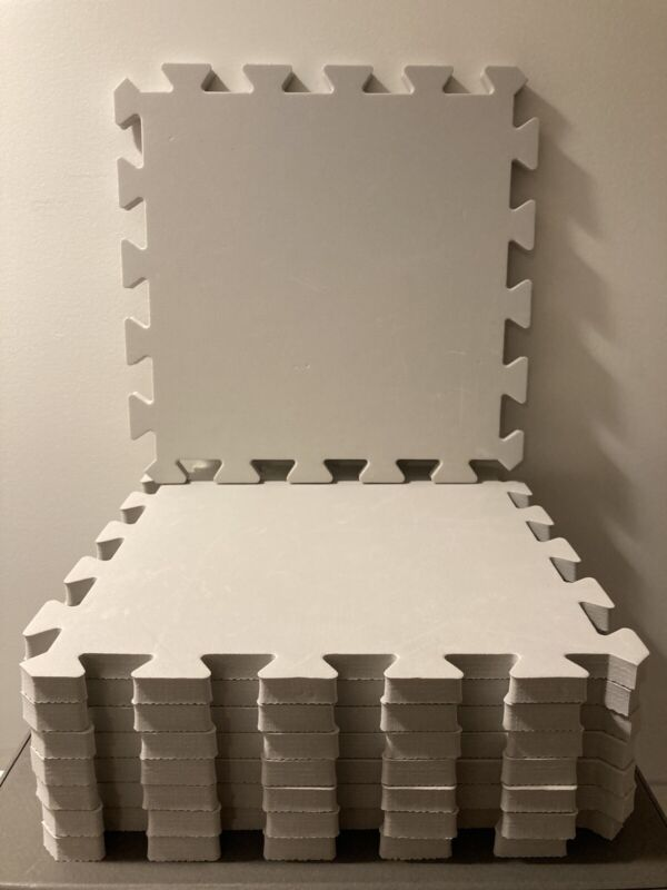 8 Grey Interlocking EVA Foam Floor Mats