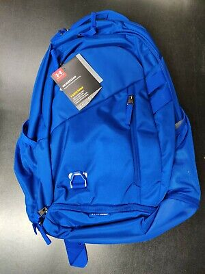 Under Armour Hustle 4.0 Backpack Royal Blue Silver NWT $55 MSRP